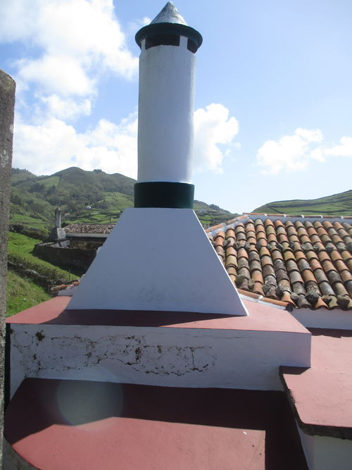typical chimney of traditional portuguese house